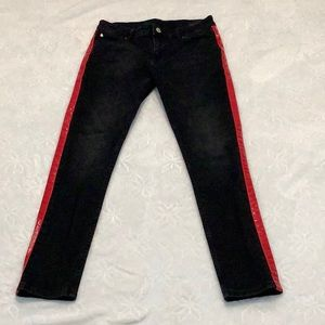 ASOS jeans with red side stripe
